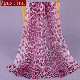 2019 bufanda de gasa estrellas blanca 100% seda estampado de leopardo bufanda Gradiente moda mujer hijab invierno marca delgada otoño rojo bufandas largas poncho de lujo señoras bufandas