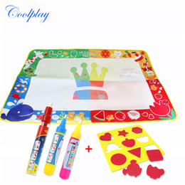 Wholesale Graffiti Papers - Kids Educational Toys 100*70CM Large Magical Four-color Drawing Water Canvas Water Drawing Paper Graffiti Drawing Board Repeated Use