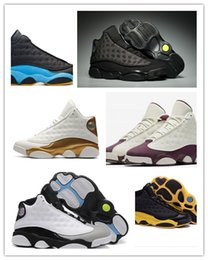 Wholesale woman love drops - 13 XIII Mens Basketball Shoes GS Love Respect Black white DMP All Star Chutney Low 2018 13s Green Women Sneakers Drop US5.5-13