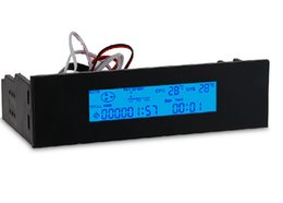 Wholesale power supply alarm - Fan speed display controller optical drive Bay LCD display fan temperature speed power supply alarm 8W STW-5013