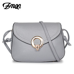 Wholesale Cheap Bags For Girls - ZMQN Women Messenger Bags Mini PU Leather Small Over Shoulder Crossbody Bags For Phone Girls 2017 Casual Cheap Light A549