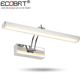 Wholesale Art Deco Wall Lighting - ECOBRT 7W LED Mirror Wall Lamps 40cm long Modern Furniture LED Picture Lights Rotated Arm for Home Bathroom Wall Light