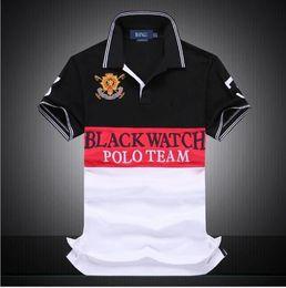 Wholesale dropship free - Brand designer - discounted PoloShirt men Short Sleeve T shirt Brand polo shirt men Dropship Cheap Best Quality black watch polo team Free