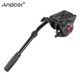 фотосъемка Скидка Andoer TP-65 Aluminum Alloy Fluid Drag Head Photography Hydraulic Head Three-dimensional Tripod 360 Panoramic Shooting