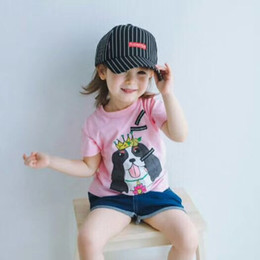 Wholesale Tee Shirts For Kids - 2018 brand kids child tops tees children t-shirts for boys girls short sleeve summer t shirts