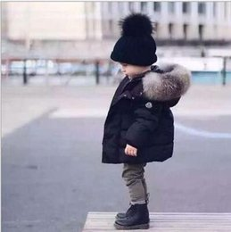 baby gepolsterte wintermäntel Rabatt Marke Baby Winter Warme Mäntel Kinder Jungen Mädchen Dicke Kapuzenjacke Baumwolle Parka Kind Padded Thermische Schneeanzug Pelzkragen Kleidung
