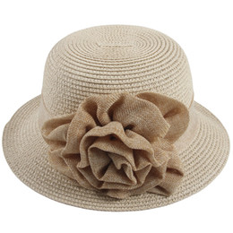 brown straw hats Canada - Sidiou Group Women Straw Bucket Hat Summer Sun  Foldable Beach Caps 1921f3d1a09d