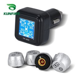 car alarm auto security Promo Codes - Smart Car TPMS Tire Pressure Monitoring System cigarette lighter Digital LCD Display Auto Security Alarm Systems Tyre Pressure