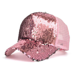 Womail Hats Caps Hat for girls boys Solid Baseball Cap Women Ponytail  Baseball Cap Sequins Shiny Messy Hat Sun Caps Apr10 778c6e6e2847