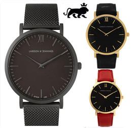 Wholesale Green Dress Tops - Men 2018 Top Brand Luxury Famous Wristwatch Male Clock Quartz leather Watch Women's Ladies dress watch All stainless steel Daniel Wellington