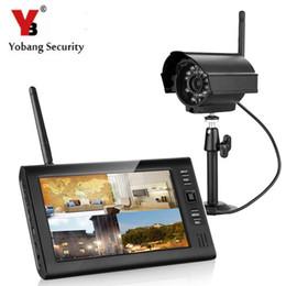 Systèmes de caméras de sécurité dvr sans fil en Ligne-Yobang Security 7 pouces TFT Digital 2.4g Caméras sans fil Audio Vidéo Moniteurs de bébé 4CH Quad DVR Système de surveillance de la sécurité