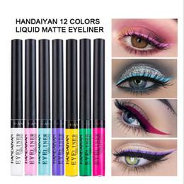 natural eyeshadow for blue eyes Coupons - HANDAIYAN Matte Eyeliner Eyes Makeup Oogpotlood Waterproof Liner Pour