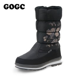 Wholesale Comfortable Boots For Women - GOGC 2017 New Arrival Women's Winter Boots Shoes Comfortable Flower Floral Women's Boots Winter for Women Female Footwear
