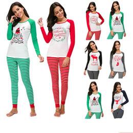 03f7738fa71 DILANE Christmas Shirts and Pants Women Kawaii Print Long Sleeve Christmas  Women s Set Plus Size 5xl