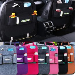hanger organizer bags 2018 - 40*55cm Car Auto Seat Back Multi-Pocket Storage Bag Holder Organizer Hanger Automobiles Accessory Travel Hanger Organizing 6Colors TY7-250