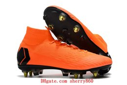 Wholesale cheap elites - 2018 World Cup mens soccer cleats Mercurial Superfly VI 360 Elite SG AC soccer shoes chaussures de football boots high ankle cheap