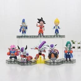 Wholesale Goku Set - 8pcs set Anime Cartoon Dragon Ball Z Sun Goku Vegeta Frieza PVC Action Figure Collectible Model Toys Doll