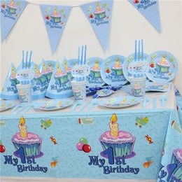 102pcs Kids First Birthday Party Set 10 People Girl Boy 1st Theme Supplies Baby Pack Affordable Themes