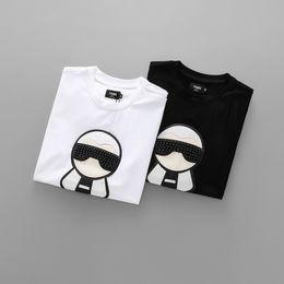 Wholesale l decoration - slim fit sleved t-shirt Men tshirts for fashions short sleeve poloshirt Shirt 2018 summer man Diamond decoration clothes cool