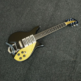 guitarras chinas Rebajas Guitarra eléctrica Black Ricken 325 John Lennon Edición limitada 3 pastillas Golden Pickguard Chinese Custom Rick Jazz Guitars