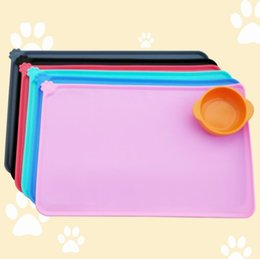 Wholesale feeding bowls for dogs - Pets Feeding Mat Multicolor Non-slip For Dog Cat Silicone Waterproof Non-Toxic Bowl Tray Pad Durable High Quality NNA100