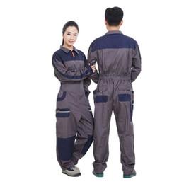 Los hombres visten overoles online-2017 Work Wear Overalls for men Fashion Tooling Overol de Manga Larga de Manga Larga Reparador Auto Repair Jumpsuits 071701