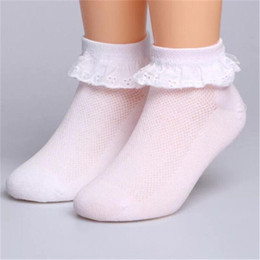 Wholesale Wild Child Clothes - Children Socks Girl Cotton fashion Lace dance socks Baby Solid Wild Spring Summer high quality 0-12 years kids clothing CN