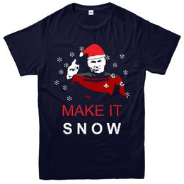 c61c1ff56 funny christmas tee shirts Canada - Star Trek Christmas T-Shirt, Make It  Snow