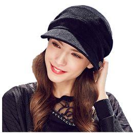 Wholesale Ladies Woolen Caps - Kenmont Autumn Winter Women Beret Hat Ladies Retro Woolen Visor Sports Cap Adjustable Fashion Elegant 2458
