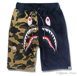 Wholesale wide leg pants xl - 2017 Summer Men's Shark Pants Shorts Cotton Causal Shorts Men Casual Camouflage Skateboard Short Pants Loose Streetwear