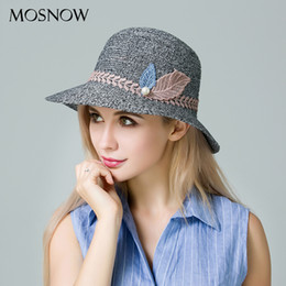 2dee3be3f0f MOSNOW 2017 New Arrival Summer Hats For Women Sun Fashion Leaves Straw Hat  High Quality Boater Cap Breathable Beach Chapeau