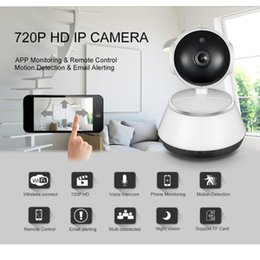 Wholesale wide angle security camera night - Video Surveillance Camera Wifi IP Camera HD 720P Security cameras Wireless Network Videcam Night Vision Wide Angle