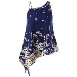 Plus Size Women Tiny Floral Tank Top 5XL Large Size Asymmetric One-Shoulder  Vest Top 2018 Summer Lady Camisole Casual Cami Tops 024811562c31