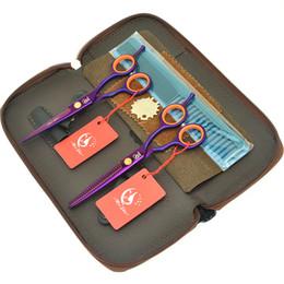 barbeiro kit profissional Desconto 5.5 Polegada Meisha Profissional Salão de Cabeleireiro Tesoura De Corte de Aço Japonês Barbeiros Tesouras de Desbaste Cabelo Humano Styling Care Ferramentas HA0424