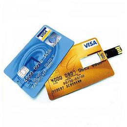 Tarjetas flash de animales online-Tarjeta de crédito personalizada Unidad flash USB 4G 8G Personalidad del recuerdo de boda Logotipo de regalo de vacaciones de negocios unidad flash USB 1G