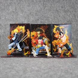2019 figura sabo 3 pz / lotto 14 cm Anime One Piece Attack Styling Luffy + Sabo + Ace Action PVC Figure Da Collezione Model Toys