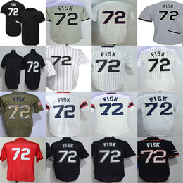 Wholesale Womens Jersey Tops - 2016 New Top quality Chicago Mens Womens Kids Toddlers #72 Carlton Fisk Red Green black gray white Flex Cool Base Baseball Jerseys