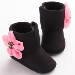 0-1 Ans Vieux Mode Bottes De Neige Pour Bébé bébé fille chaussures hiver Fleur Anti-dérapant Prewalker sapatos infantil menina # 20 ? partir de fabricateur