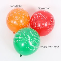 Flashing led balloon lights new en Ligne-12 pouces Happy New Year nouveauté enfants ballons led jouet éclairé volant Light Up ballons décoration de fête de Noël clignotant latex ballon
