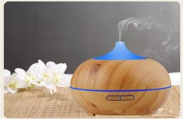 Wholesale Impeller Humidifier - 300ml Aroma Essential Oil Diffuser Wood Grain Ultrasonic Cool Mist Humidifier for Office Home Bedroom Living Room Yoga Spa Water Cap