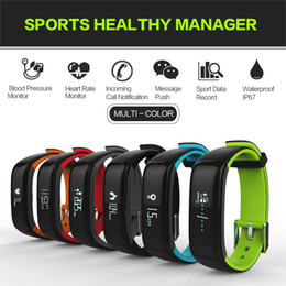 2019 alarma de muñeca bluetooth Smart Men Women Watch Bluetooth IOS Android Reloj pulsera inteligente Pulsera de Presión Arterial Frecuencia cardíaca Reloj despertador digital Reloj alarma de muñeca bluetooth baratos