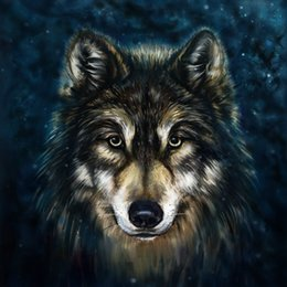 Wholesale Painting Art Modern - Modern Gift Contemporary Abstract Home Art wall decoration Wolf Animal oil painting picture Printed on Canvas for Living Room Bedroom Decor