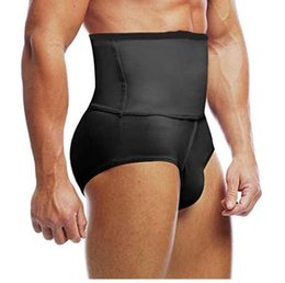 d95121f1cd204 Men s Slimming Body Shaper High waist Abdomen Tummy Control Shaping Brief Slim  Underwear Compression Panties Black White