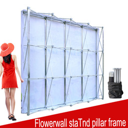 Wholesale stands for backdrops - Aluminum Flower Wall Folding Stand Frame for Wedding Backdrops Straight Banner Exhibition Display Stand Trade Advertising Show
