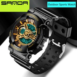 relojes водонепроницаемый Скидка Wholesale-2016 New  SANDA Watches Mens LED Digital-watch G Style Watch Waterproof Sport  Watches for Men relojes hombre