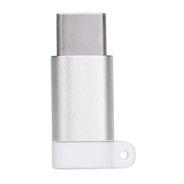 Wholesale Mini Usb Connector Types - Mini Type C Male to Micro USB Female Data Adapter Converter Hot Selling Cable Adapters Connector Keychain Aug11