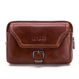 Чехол для мобильного телефона онлайн- Genuine Leather Cell phone Bag Mobile phone Case Cover Cowhide Men's Waist Belt Pack Hip Bum Wallet Purse For Ipone