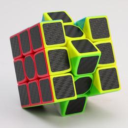 Würfel kohlenstoff online-Hochwertige Kohlefaser Glatte Hand Spinner Magic Speed Würfel Magic Square Puzzle Erwachsene und Kinder Lernspielzeug