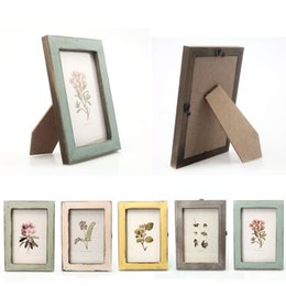 Wholesale Wholesale Wooden Picture Frames - 2016 Warm Family Vintage Photo Frame Home Decor Wooden Wedding Casamento Pictures Frames Vinatage irregular shape family frame