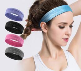 banda para la cabeza negra Rebajas Color al aire libre yoga de la aptitud de la elasticidad de secado rápido banda para el cabello correr correa de sudor de silicona antideslizante banda para la cabeza antideslizante deporte bufanda
